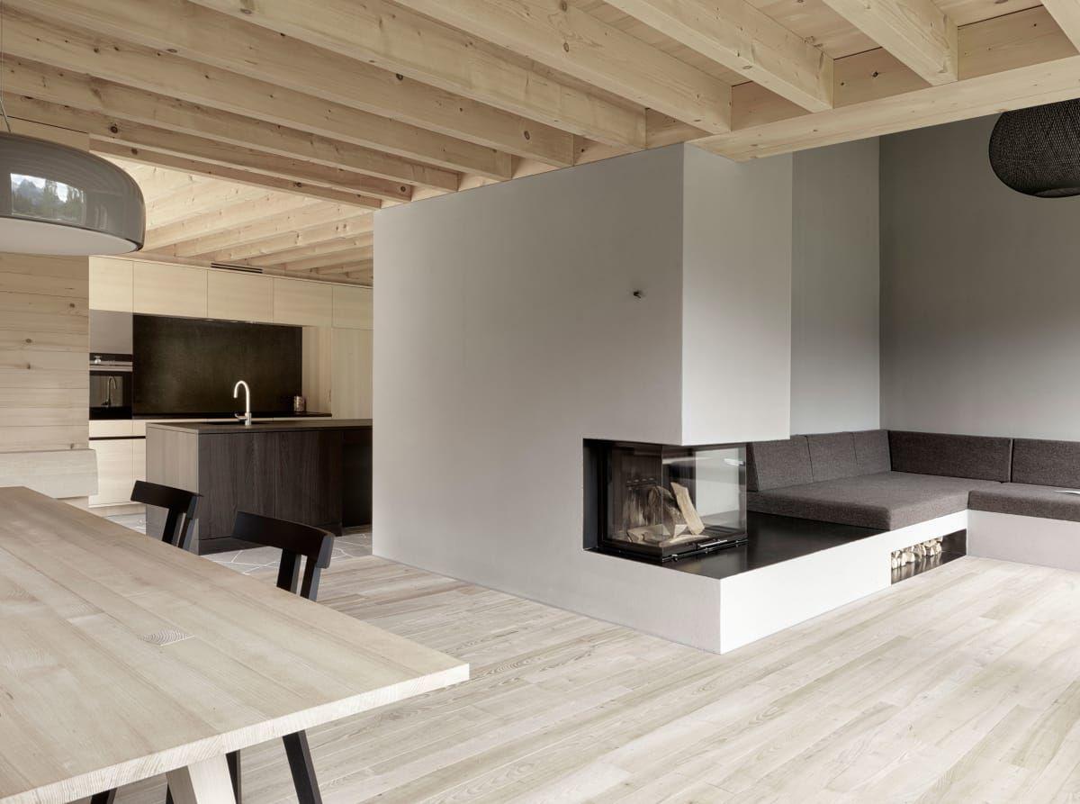 Innenarchitektur wohnzimmer grundrisse innauermatt architekten adolf bereuter  house on tschengla
