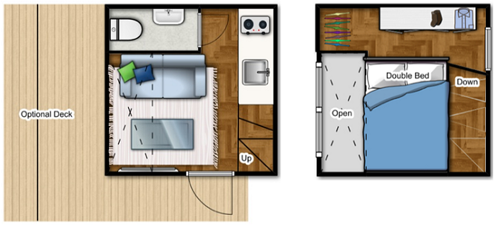 the nomad micro home is perfect for cold climates humble micro homes floor plans gallery home interior design