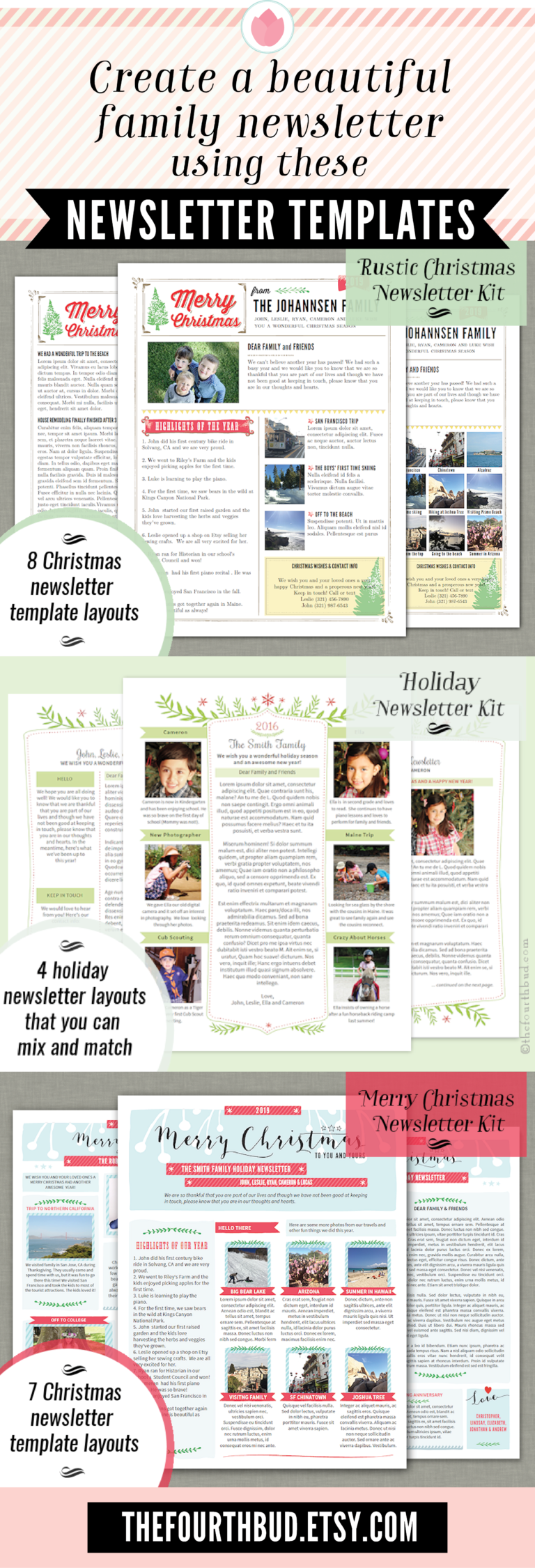 Pin By The Fourth Bud On Christmas Newsletter Templates Year In