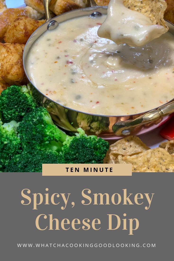 Spicy Smokey Cheese Dip Whatcha Cooking Good Looking Recipe Vegetarian Dip Recipe Cooking Superbowl Party Food