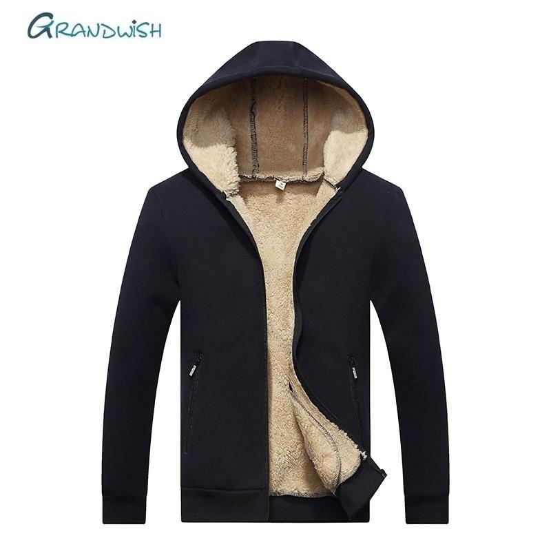 Men/'s Winter Thicken Hoodie Warm Hooded Sweatshirt Coat Jacket Outwear Sweater