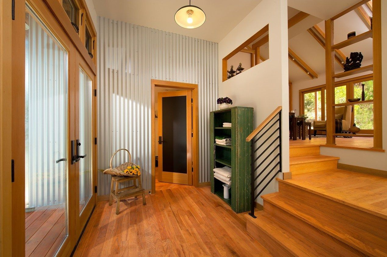 creative ways to use corrugated metal in interior design laundry rh pinterest com