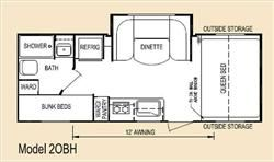 2014 Eco Camp 20bh Travel Trailer Camping Floor Plans