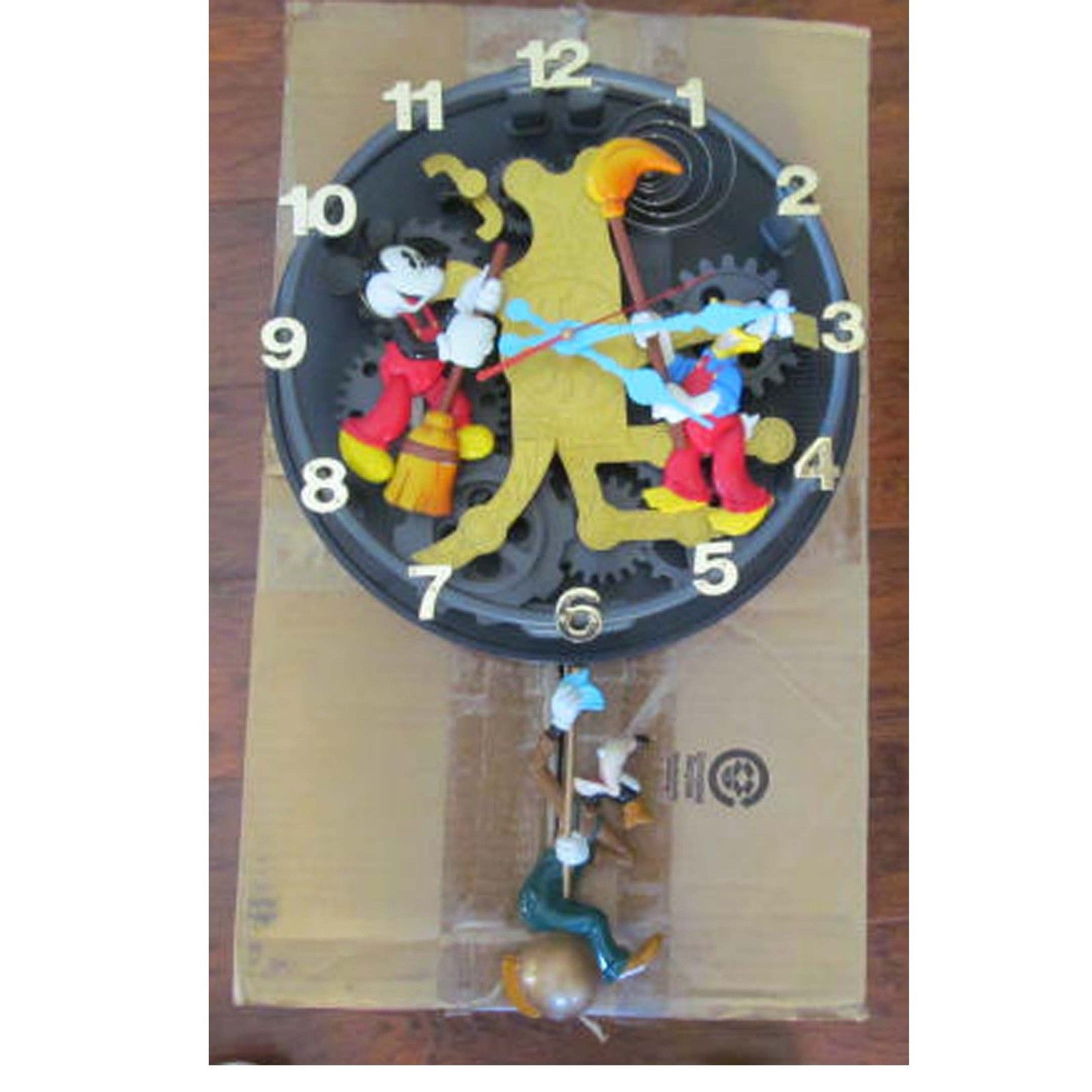Disney wall clock cleaners mickey mouse donald duck goofy animated disney wall clock cleaners mickey mouse donald duck goofy animated talking amipublicfo Choice Image