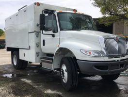 International 4300 Arbortech Chip Box 14 Chipper Box Truck At Work Truck Direct Work Truck Ford Transit Trucks For Sale