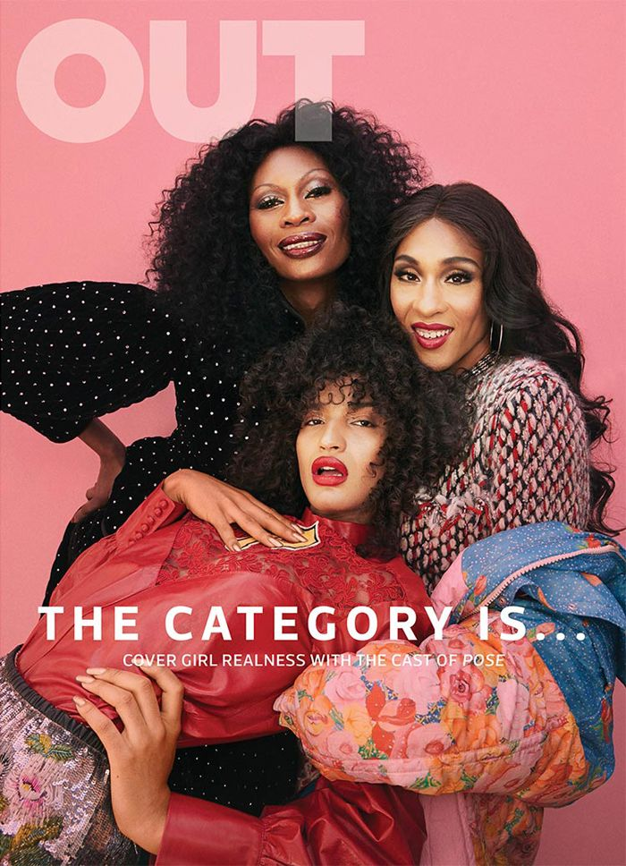 """""""Pose"""" Stars Mj Rodriguez Dominique Jackson and Indya Moor Cover Out Magazine"""