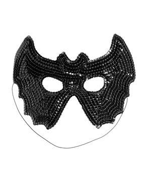 Máscara murciélago de lentejuelas