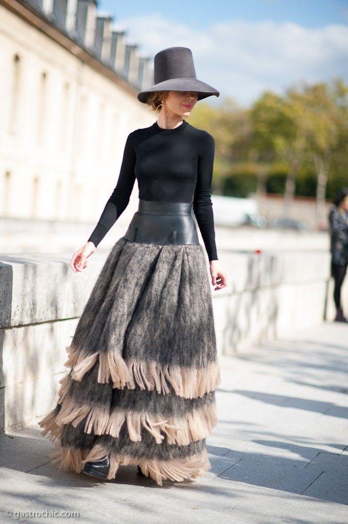Pinned from GastroChic: Ulyana Sergeenko at Dior #streetstyle #fashion