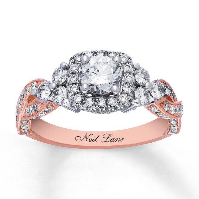 dfb6a103e Neil Lane Engagement Ring 1-5/8 cttw Diamonds 14K Two-Tone Gold -  94027551699 - Kay