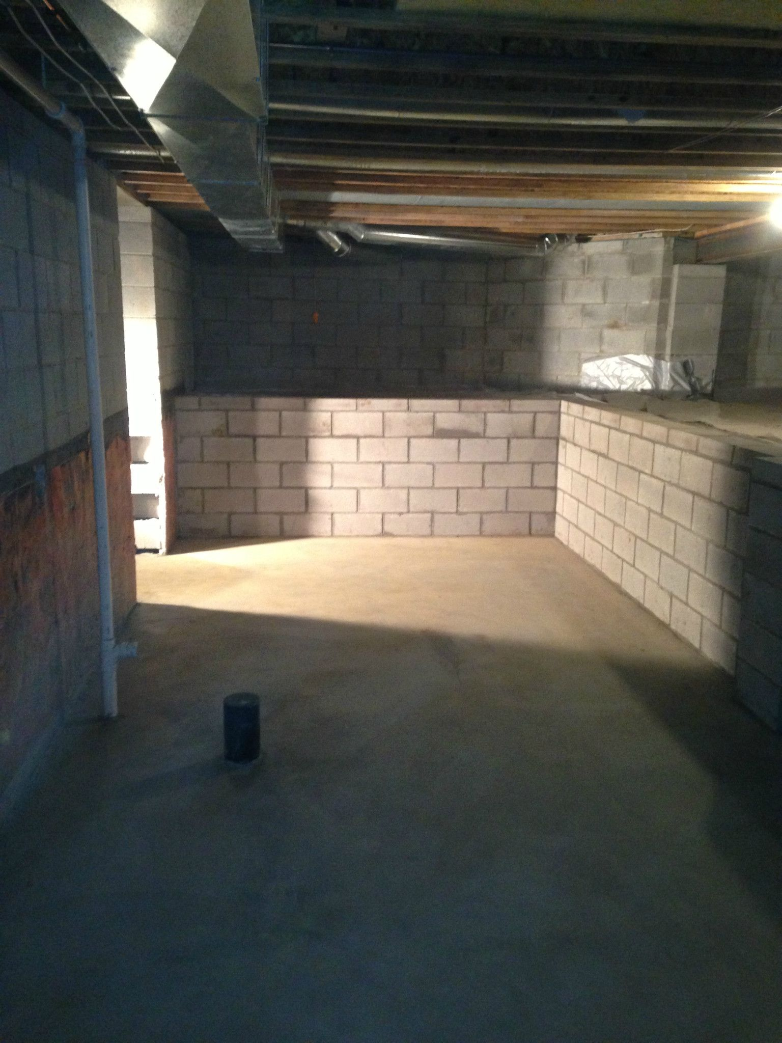 Fresh Convert Crawlspace to Basement before and after