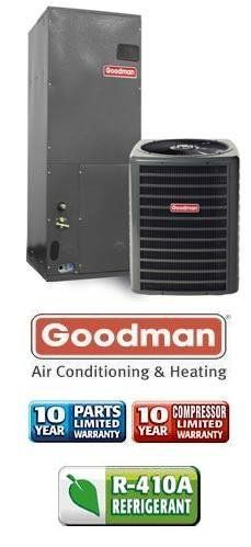 2 5 Ton 13 Seer Goodman Air Conditioning System Gsx130301 Aruf30301 1189 Heating And Air Conditioning