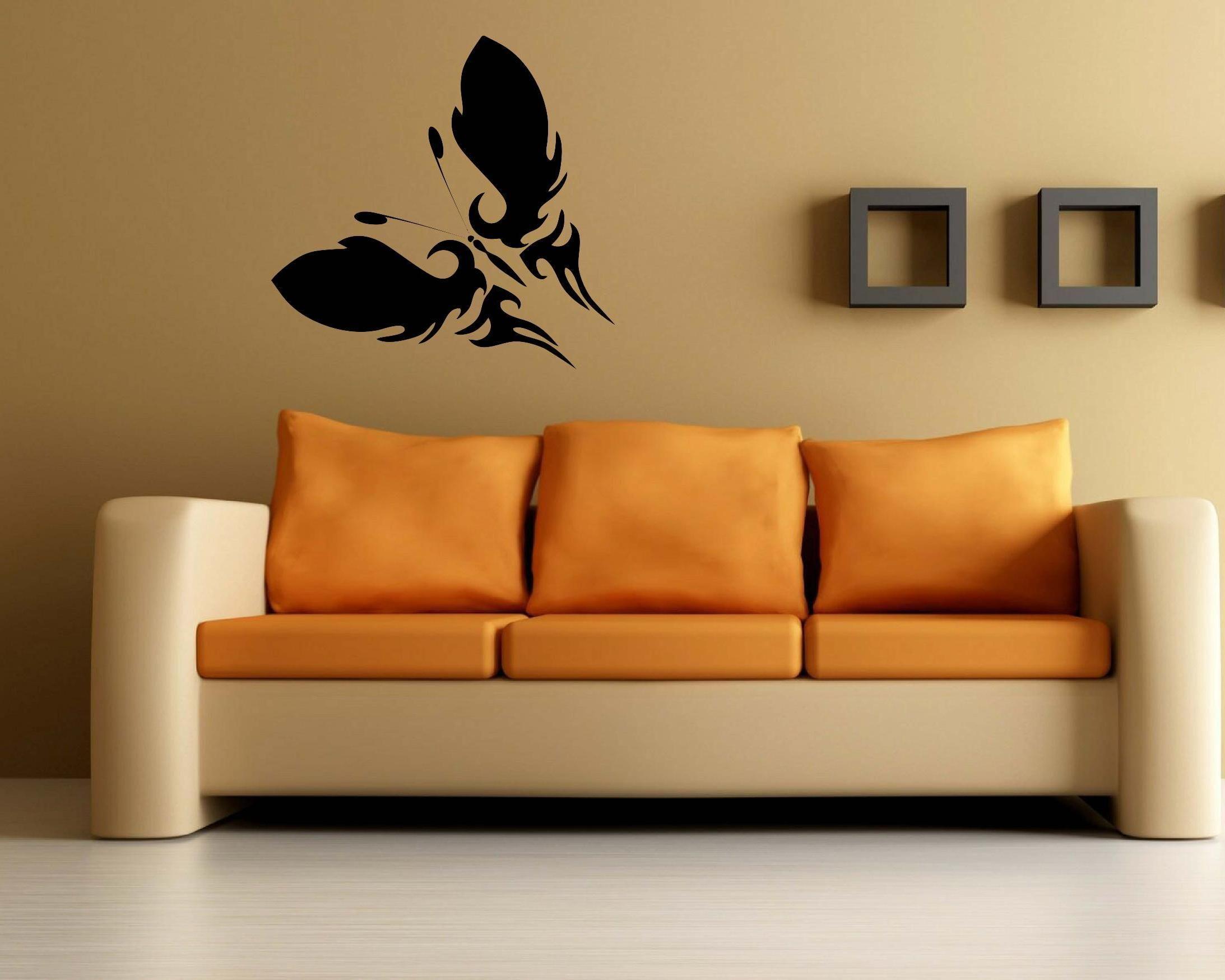 Black Single Large Butterfly Wall Decal Wall Decal Australia - Custom vinyl decals australia