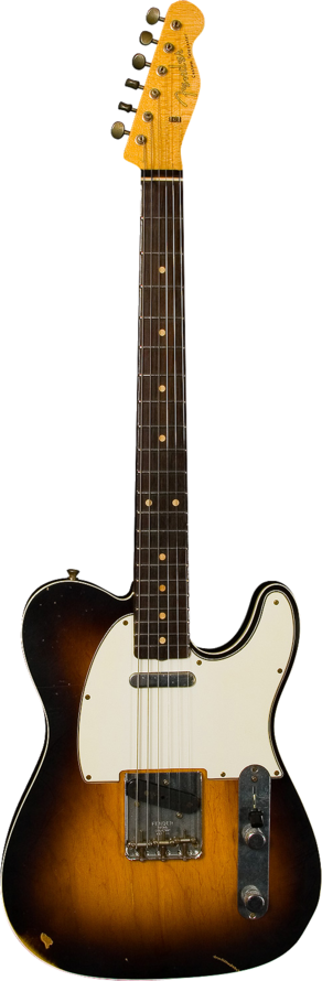 Masterbuilt Limited Wildwood 10s 1962 Telecaster Custom Relic 2 Color Sunburst Telecaster Custom Fender Custom Shop Fender Squier Telecaster