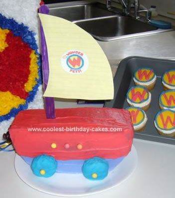 Cool Homemade Wonder Pets Flyboat Cake Wonder Pets Party Cakes