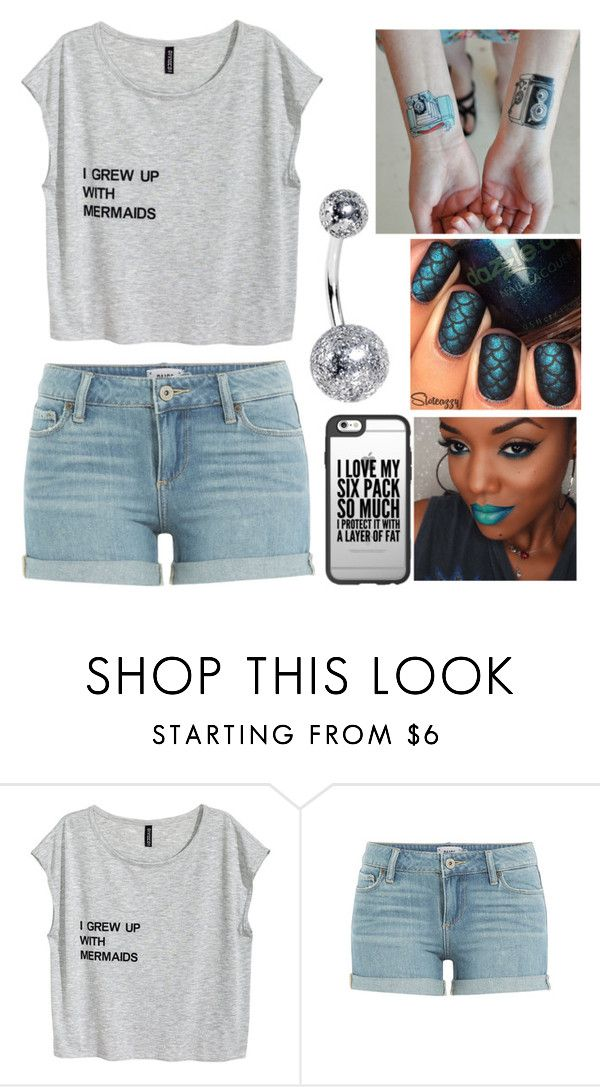 """I grew up with mermaids"" by musicmelody1 ❤ liked on Polyvore featuring Paige Denim and Casetify"