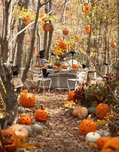 Interior Design 28 Wonderful Outdoor Halloween Party Ideas With