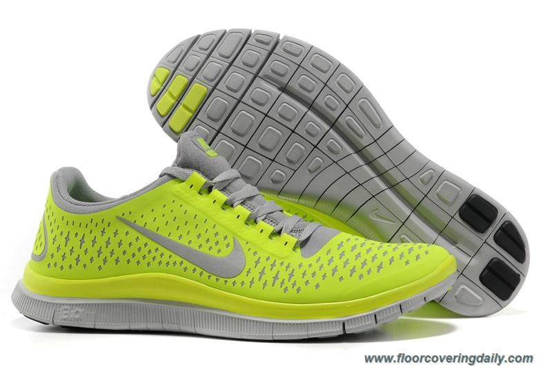 buy online 5aa01 71ae8 ireland 511457 007 nike free 3.0 v4 wolf grey electric green volt mens  outlet 6af48 cc6dc