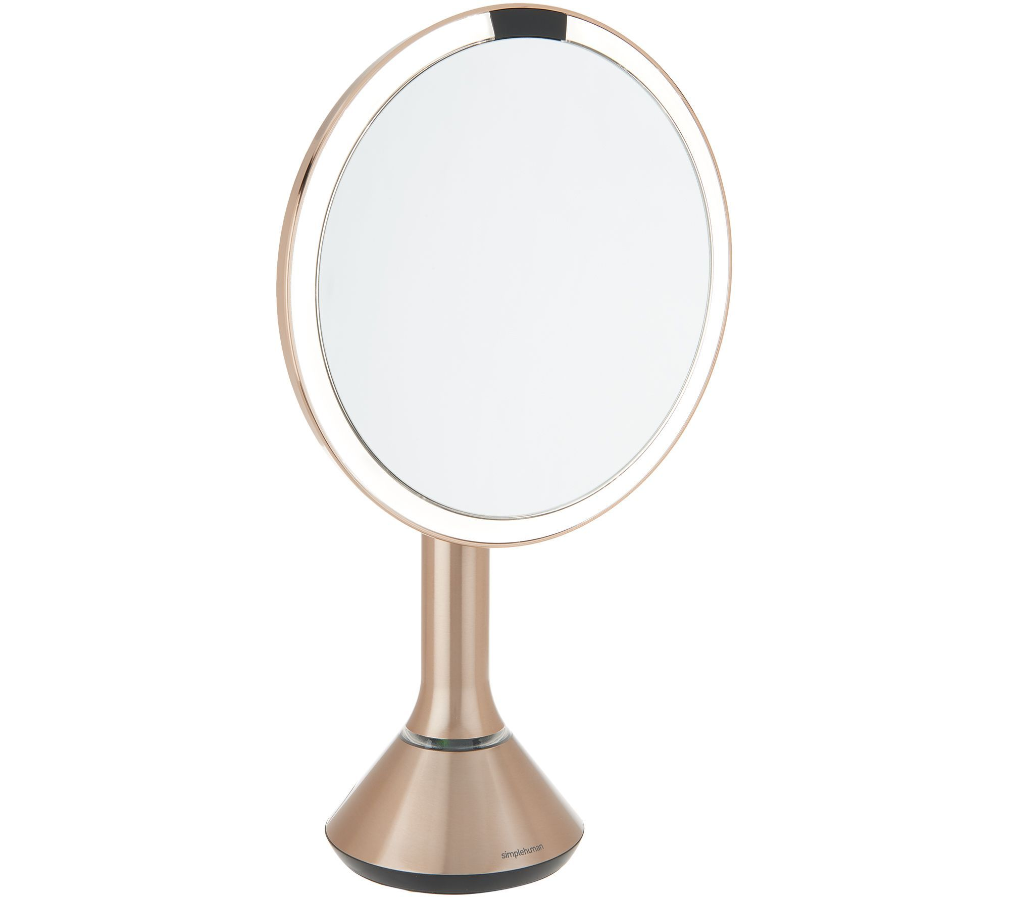 Simplehuman 8 Led Sensor Mirror W 5x Magnification Tru Lux Light Page 1 Qvc Com Magnification Mirror Flawless Makeup Application Magnification