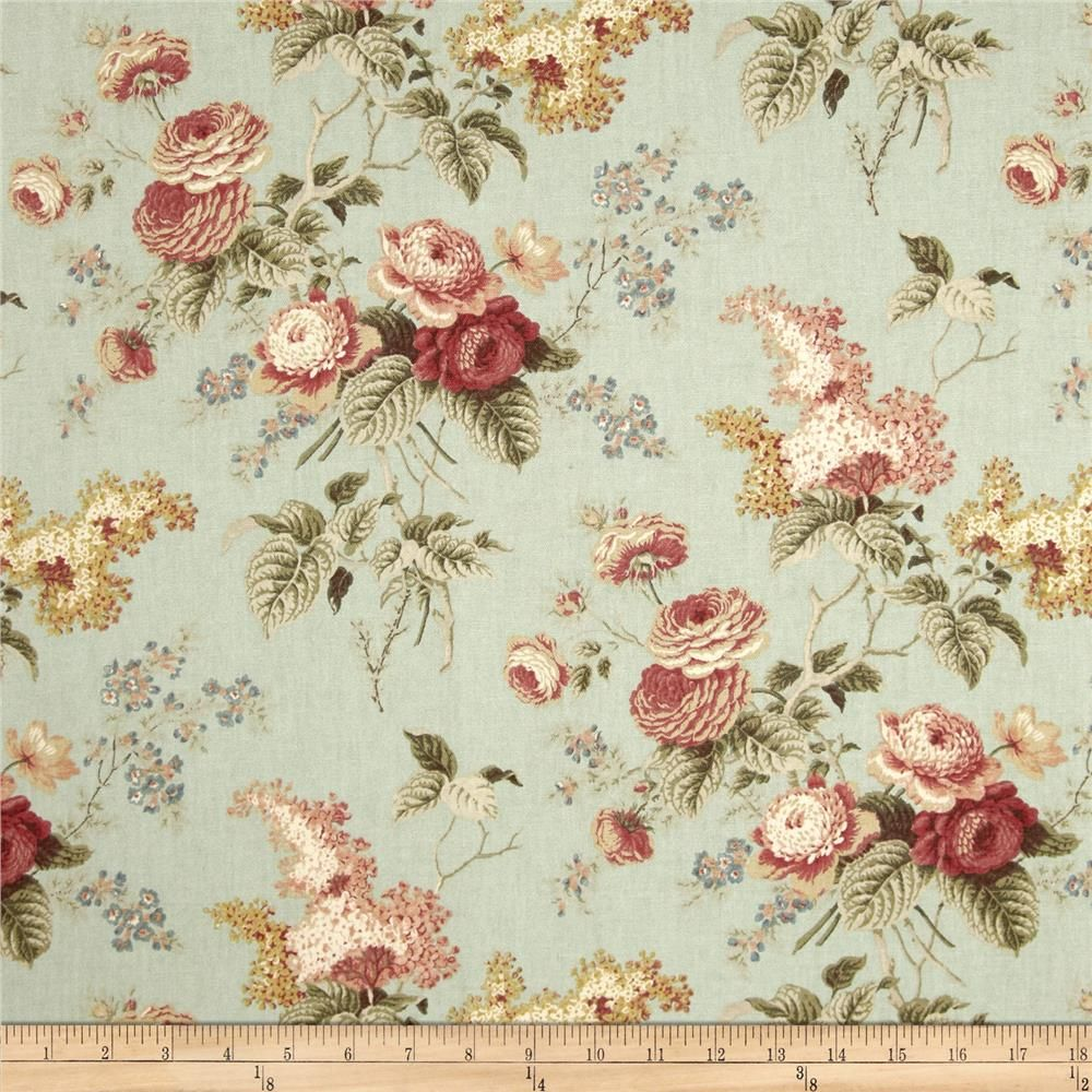 Waverly Emma S Garden Mist Fabric Arts Fabric Decor