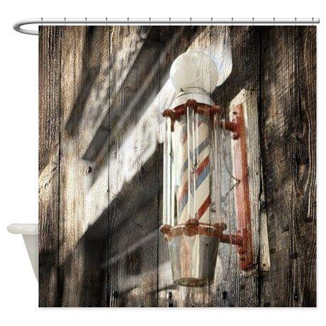 Vintage Barber Shop Pole Shower Curtain On CafePress