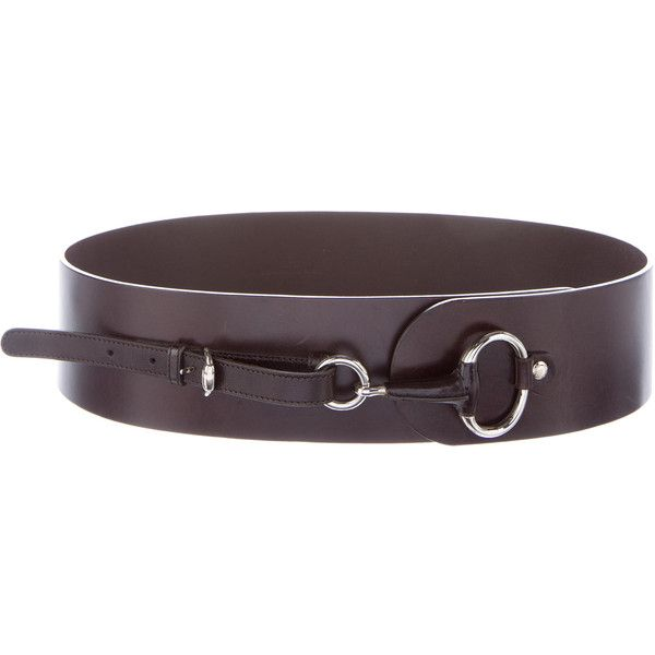 4ecf21a3c97 Pre-owned Gucci Horsebit Waist Belt ( 200) ❤ liked on Polyvore featuring  accessories