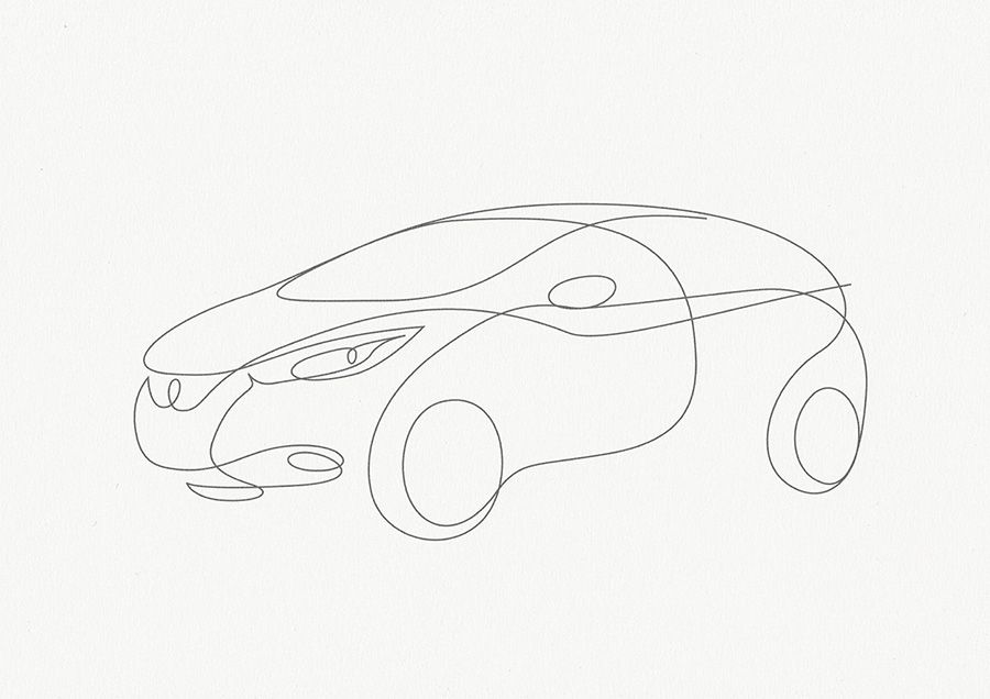 « Behind The Scene » Pictures of Micra Drawn in One Line
