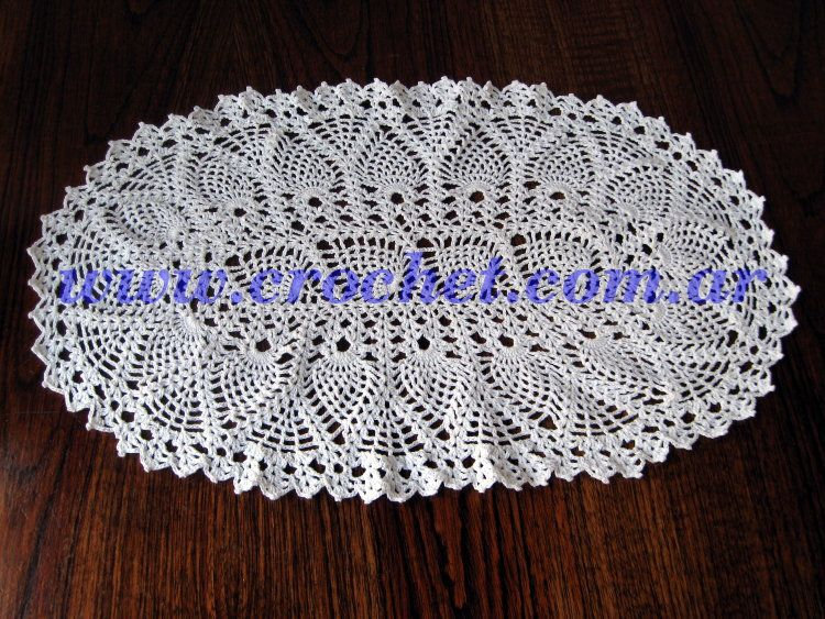 Carpeta Ovalada | CROCHET DOILIES AND RUNNERS | Pinterest | Carpeta ...