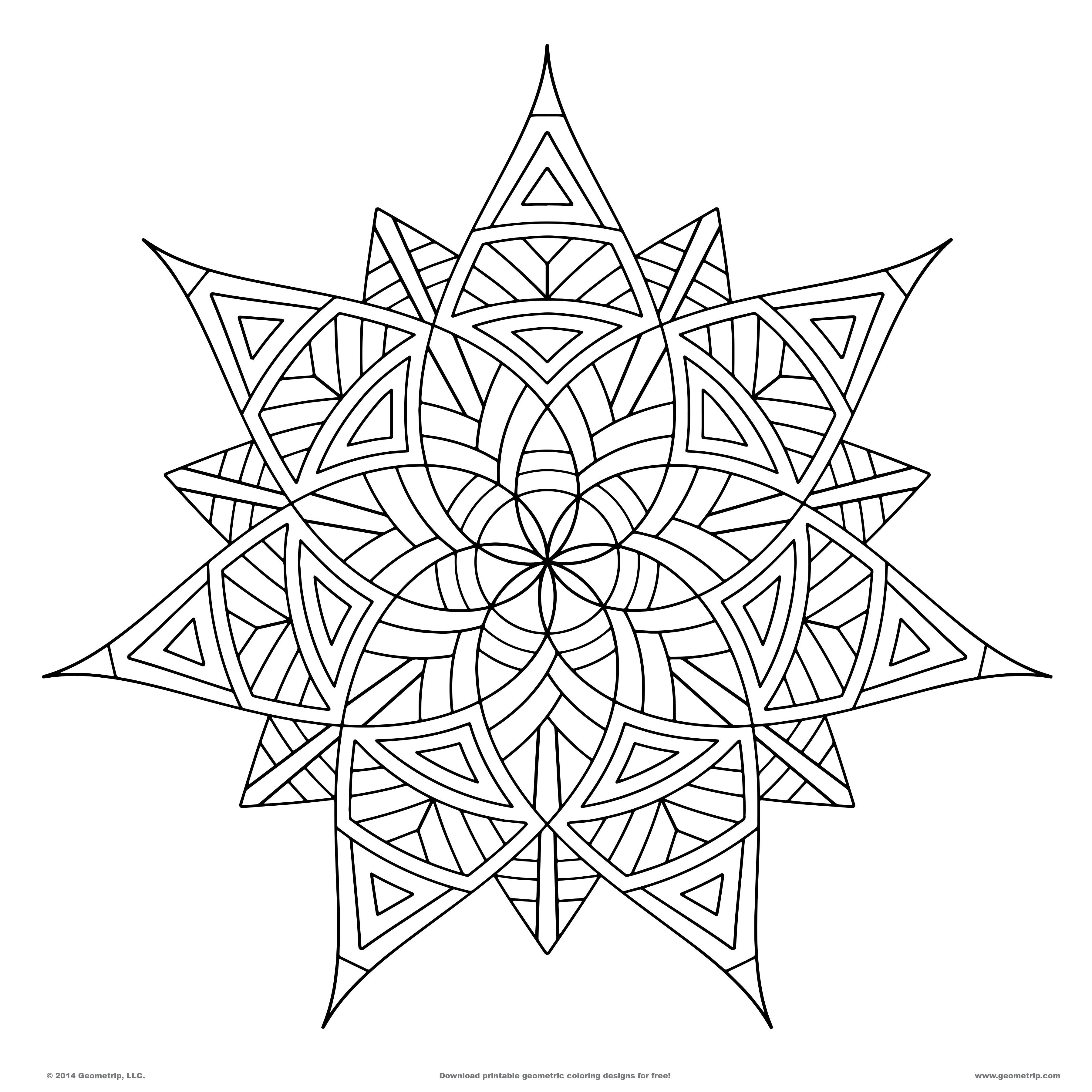 Geometrip Features High Quality Geometric Coloring Designs That You Can Download And Print On Any Printer The Are Available In PDF