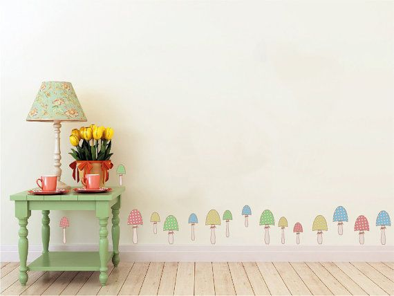 Whimsical Mushroom Patch Vinyl Wall Decal by WilsonGraphics & Whimsical Mushroom Patch Vinyl Wall Decal by WilsonGraphics | Iris ...