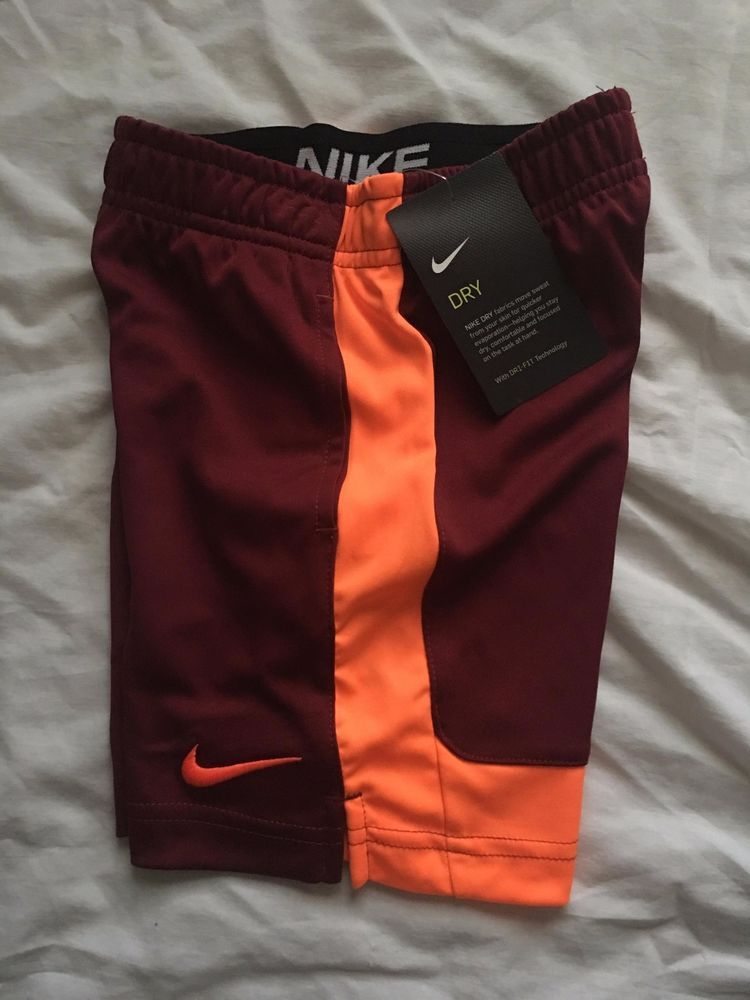 4-7 Black Blue Red Little Boys /& Toddler Nike Athletic Dri Fit Shorts Size 2-4T
