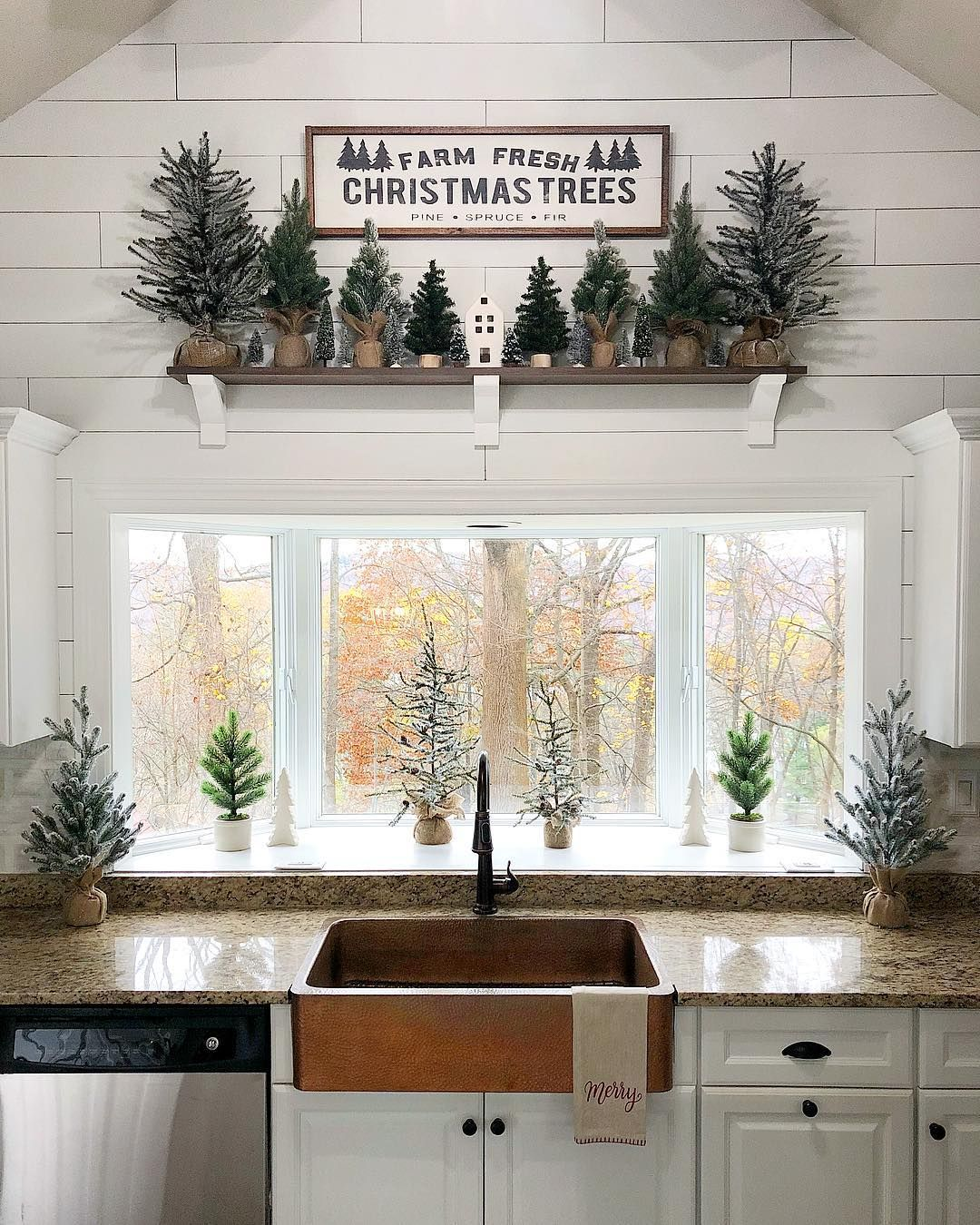 Chrissy On Instagram I Had This Mini Tree Farm Above The Sink