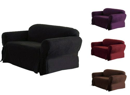 Cool Solid Color Soft Micro Suede Couch Sofa Loveseat Or Chair Machost Co Dining Chair Design Ideas Machostcouk