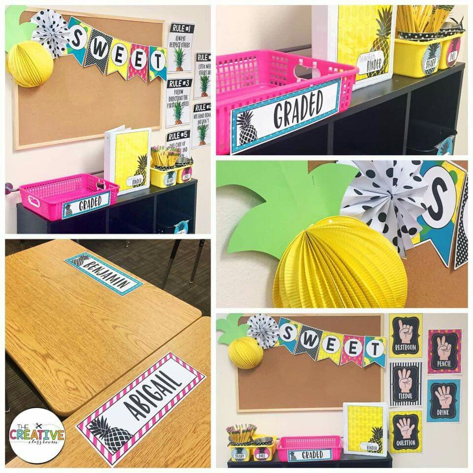 Pin by Stacy White on pineapple classroom Classroom