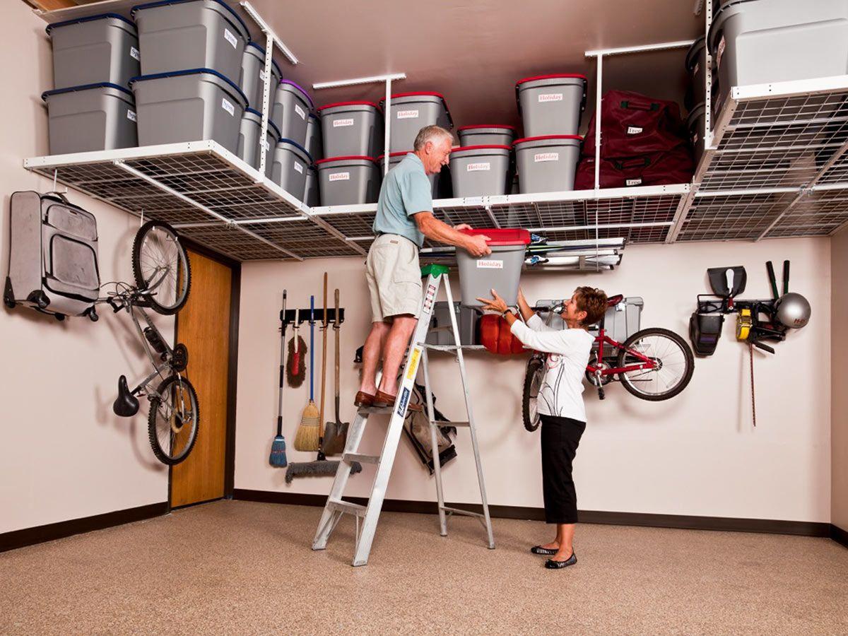 15 Diy Garage Storage Ideas Wp Design Inspiration Ideas Garage Storage Shelves Overhead Garage Storage Garage Organization