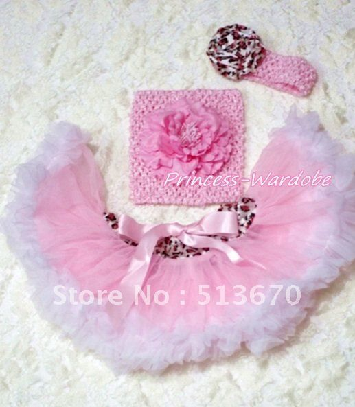Pink Leopard Waist Pink White Pettiskirt Sparkle Birthday Number White Top set