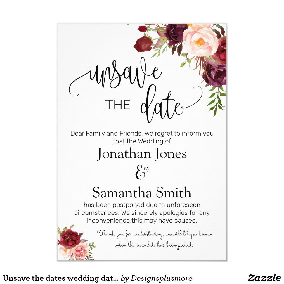 Unsave the dates wedding date change marsala