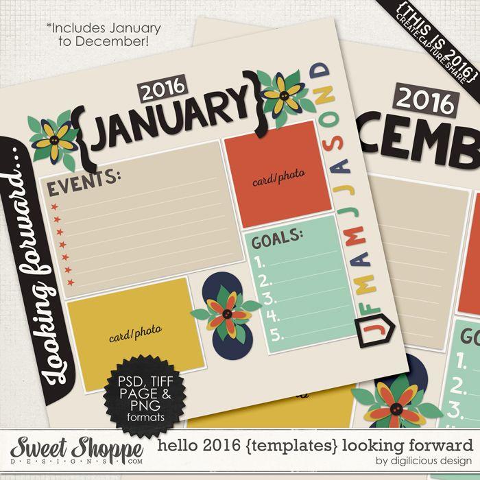 Hello 2016 {Templates} Looking Forward by Digilicious Design