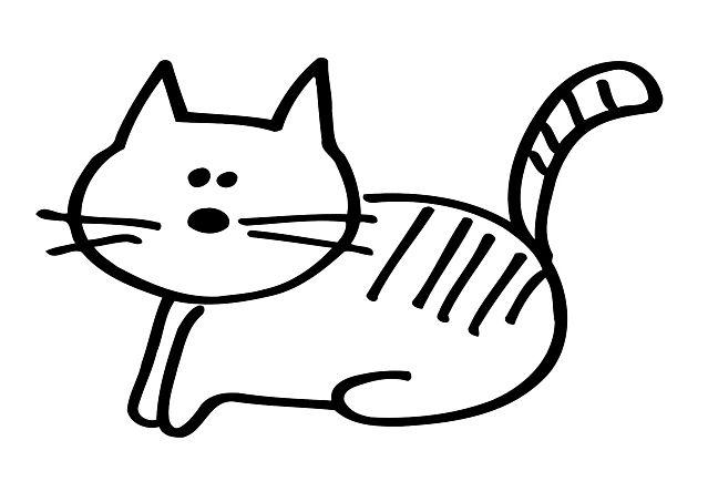 Simpatico Gatto Stilizzato Da Colorare Cat Disegni Da Colorare