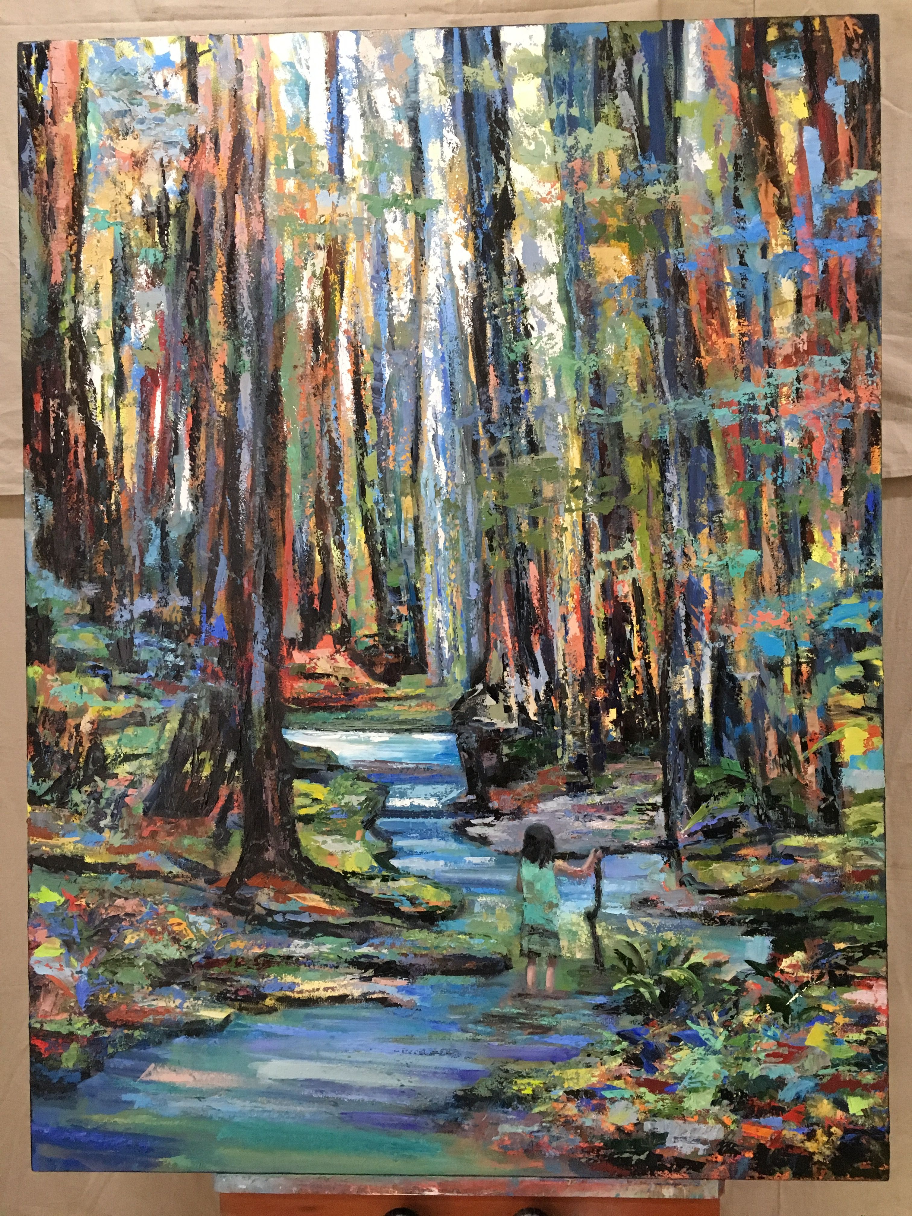 Phoebe In Muir Woods By Kim Ford Kitz Kimfordkitz Com With Images Landscape Paintings Painting Abstract Landscape