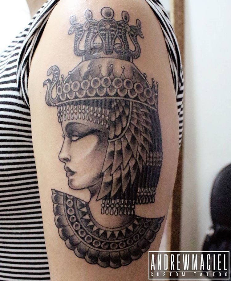 Cleopatra Da Giurodriguesmake Finalizada Cleopatra Cleopatratattoo Tatuagem Neotraditional Egyptian Egyptian Tattoo Sleeve Egypt Tattoo Egyptian Tattoo