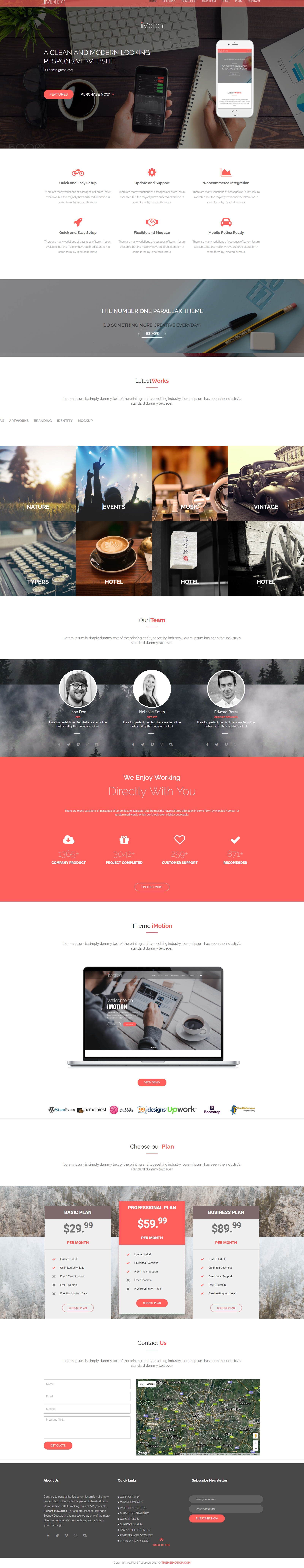 Imotion Psd Html5 Template Free Download Bootstrap Html5 Css3
