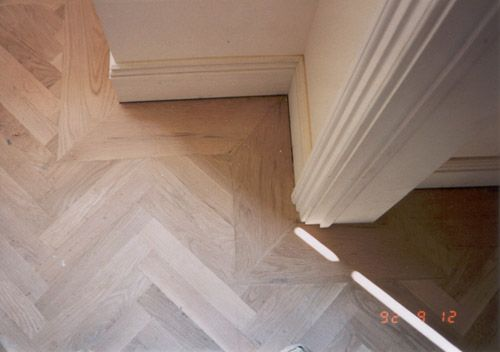 Herringbone Wood Floor Border Weeks Hardwood Flooring