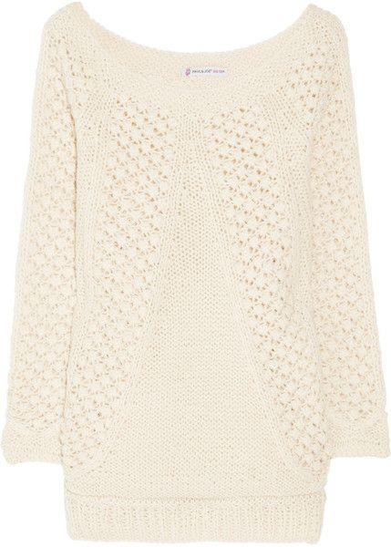 Ramses Open-knit Wool-blend Sweater - Lyst