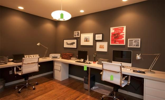 20 Space Saving Office Designs With Functional Work Zones For Two Small Office Design Home Office Design Modern Home Office