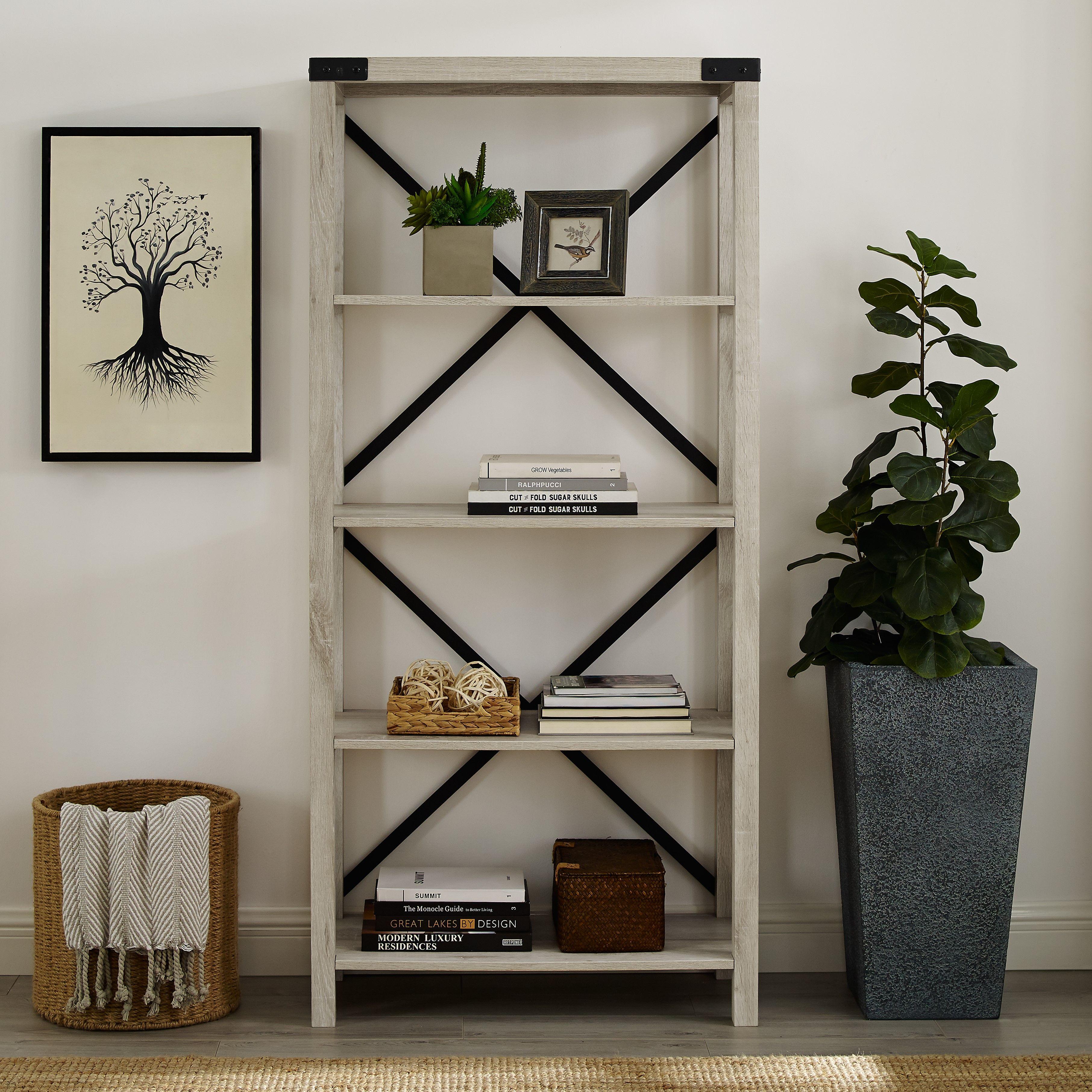 Home Oak bookshelves, Shelves, Metal bookcase