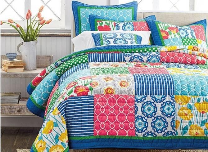 Super Soft Colorful Patchwork Cotton 3-Piece #Bed in a #Bag