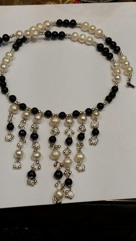 لولوه اسود وابيض Jewelry Pearl Necklace Necklace