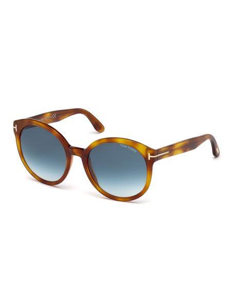 a68560c5fabd TOM FORD Philippa Round Cat-Eye Sunglasses