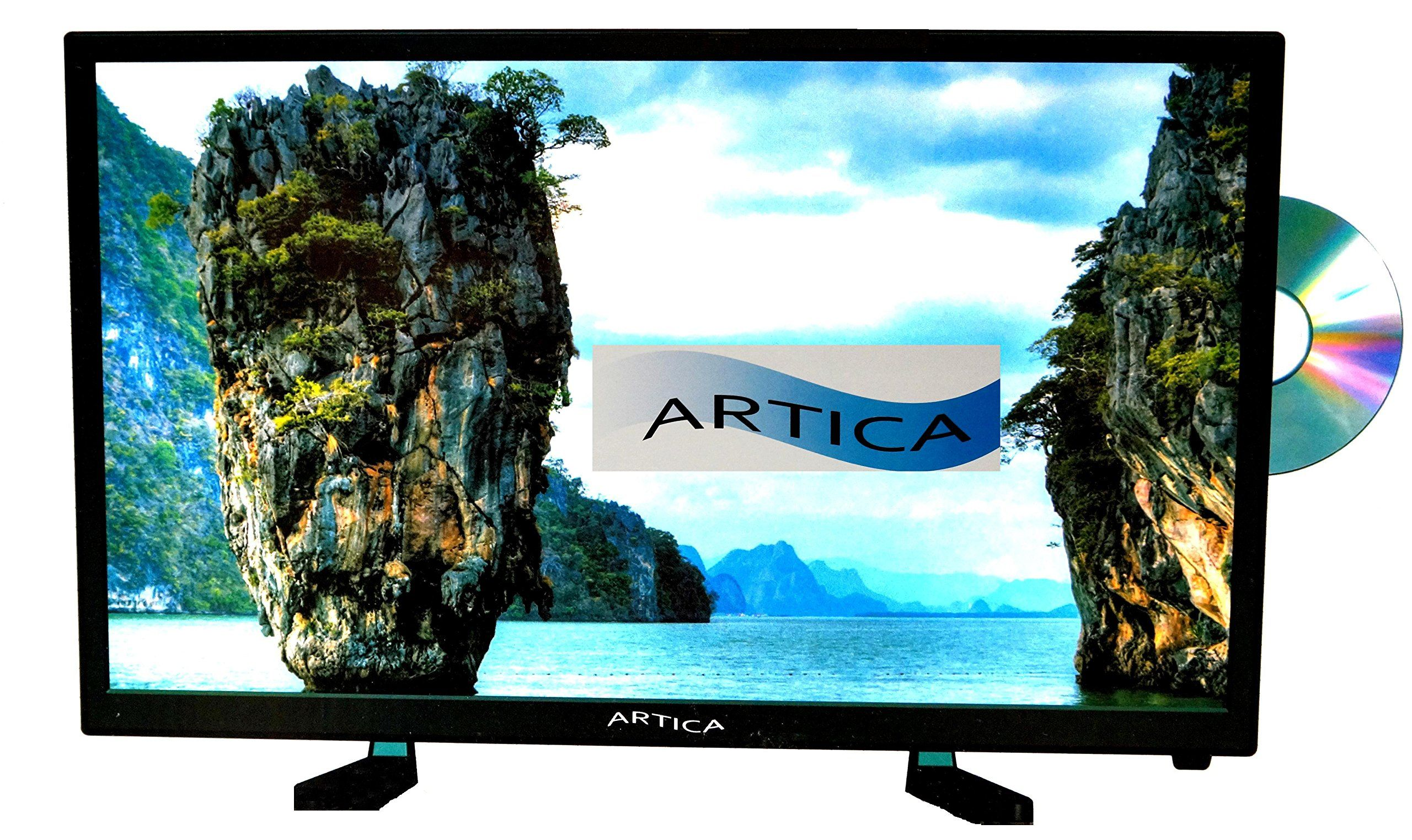 Artica Ar2418 24 Inch Hd Led Tv With Dvd Combo Black Led Tv Tv Dvd Player