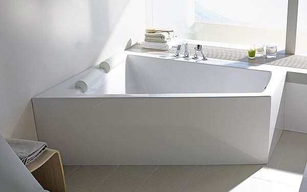 Baignoire d 39 angle droit paiova de duravit avec habillage acrylique salle de bain pinterest - Baignoire ilot duravit ...